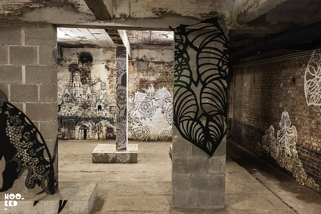Artist Swoon's Wheatpaste work at Mima Museum in Brussels