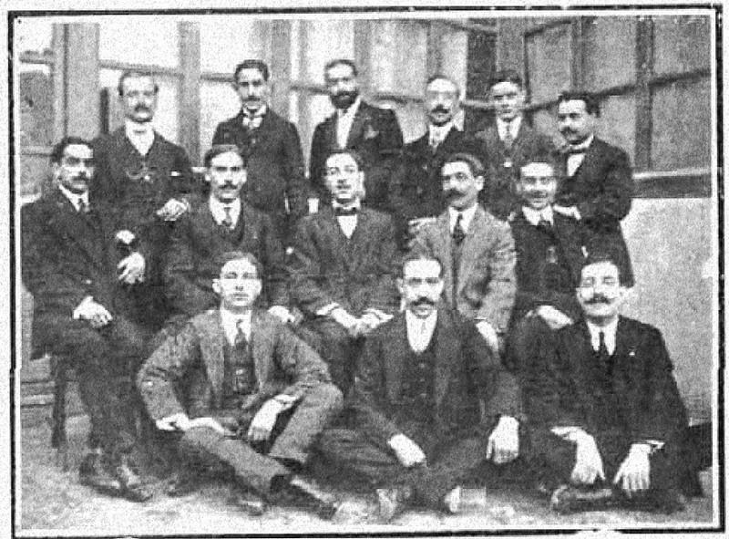 Vida manchega. 7-3-1912-organizadores de la gala benefica