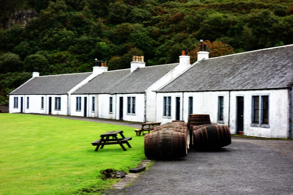 Whisky Casks at Bunnahabhain Distillery, Islay