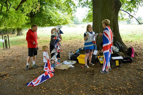 Volunteers and bunting