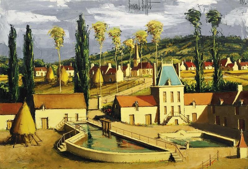 Bernard Buffet - Environs de la Rochepot, Bourgogne