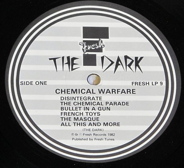 "THE DARK CHEMICAL WARFARE + LYRICS SHEET FRESH 12"" LP VINYL"