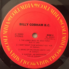 BILLY COBHAM:B.C.(LABEL SIDE-B)