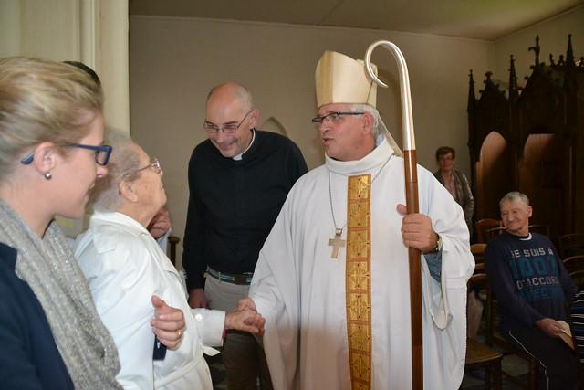 Mgr O. LEBORGNE en visite pastorale