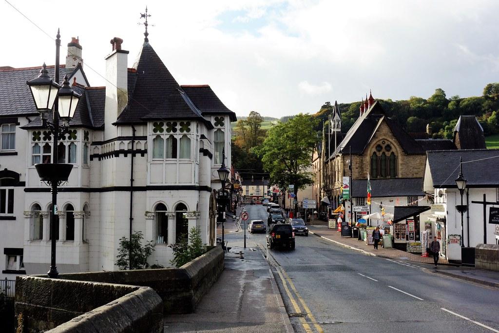 Castle Street, Llangollen, Wales