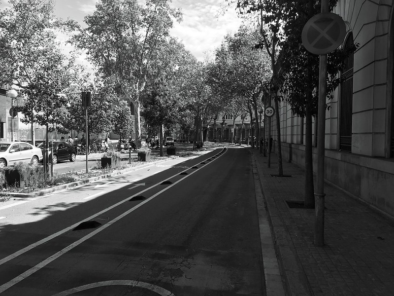 Barcelona Street Black And White