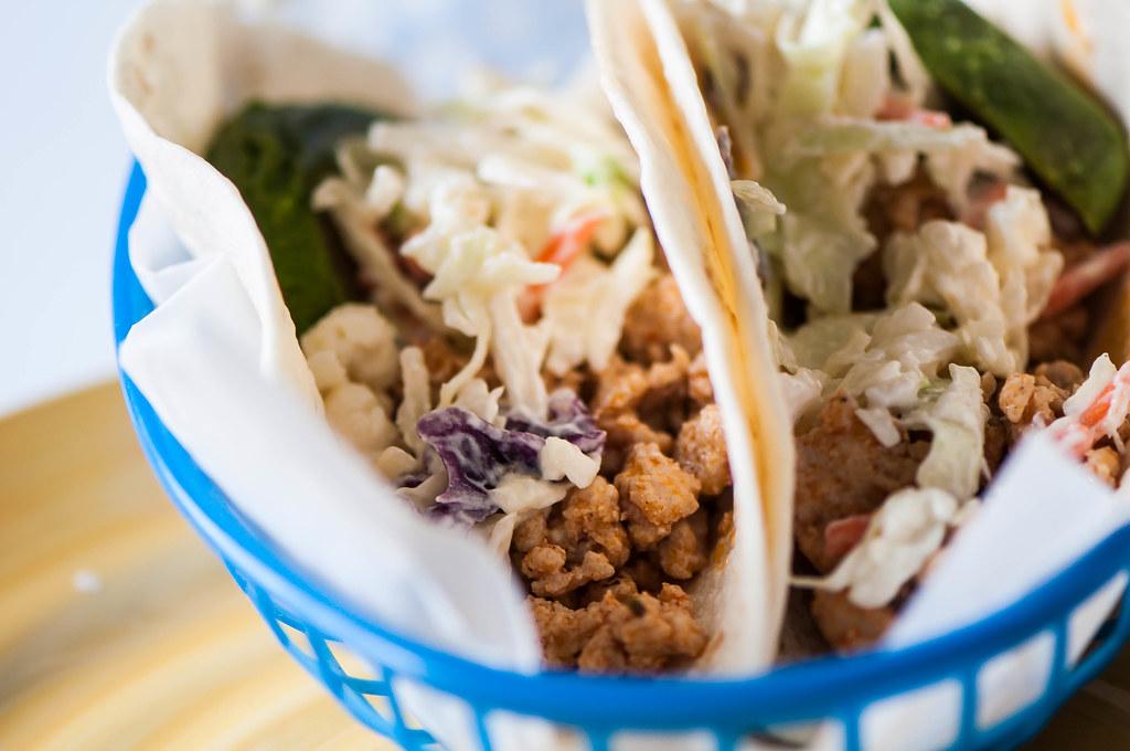 Buffalo Chicken Tacos with Bleu Cheese Slaw 5