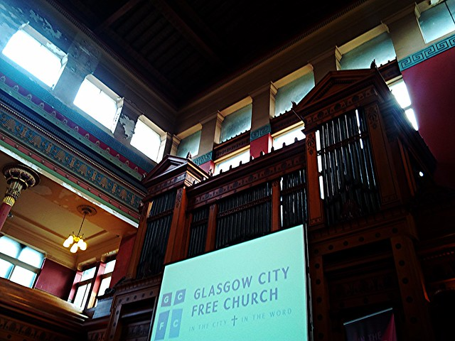 Interior of St Vincent Street Church, Glasgow