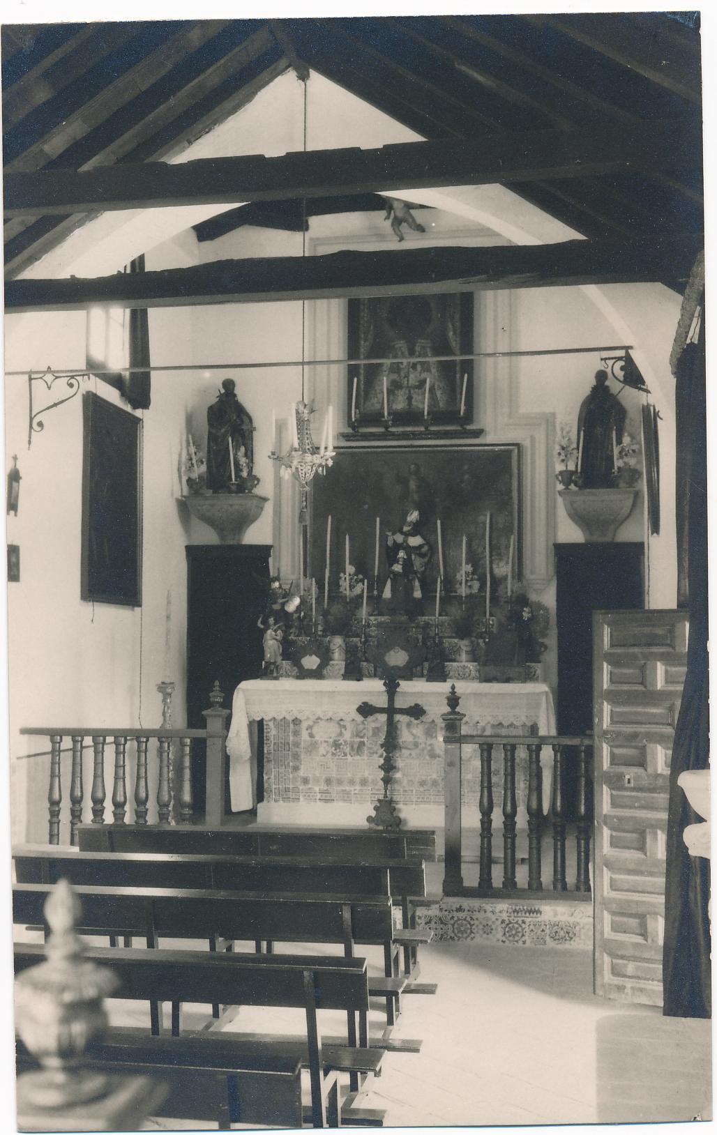 Capilla del Cigarral del Bosque en los años 20. Foto Rodríguez.