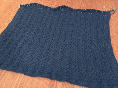 Cable and Lace Afghan 1
