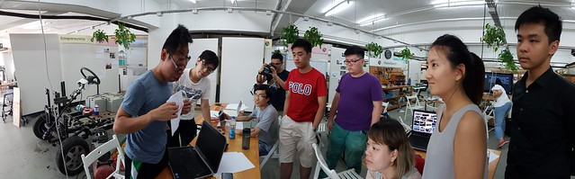 EV Lab, end of first week