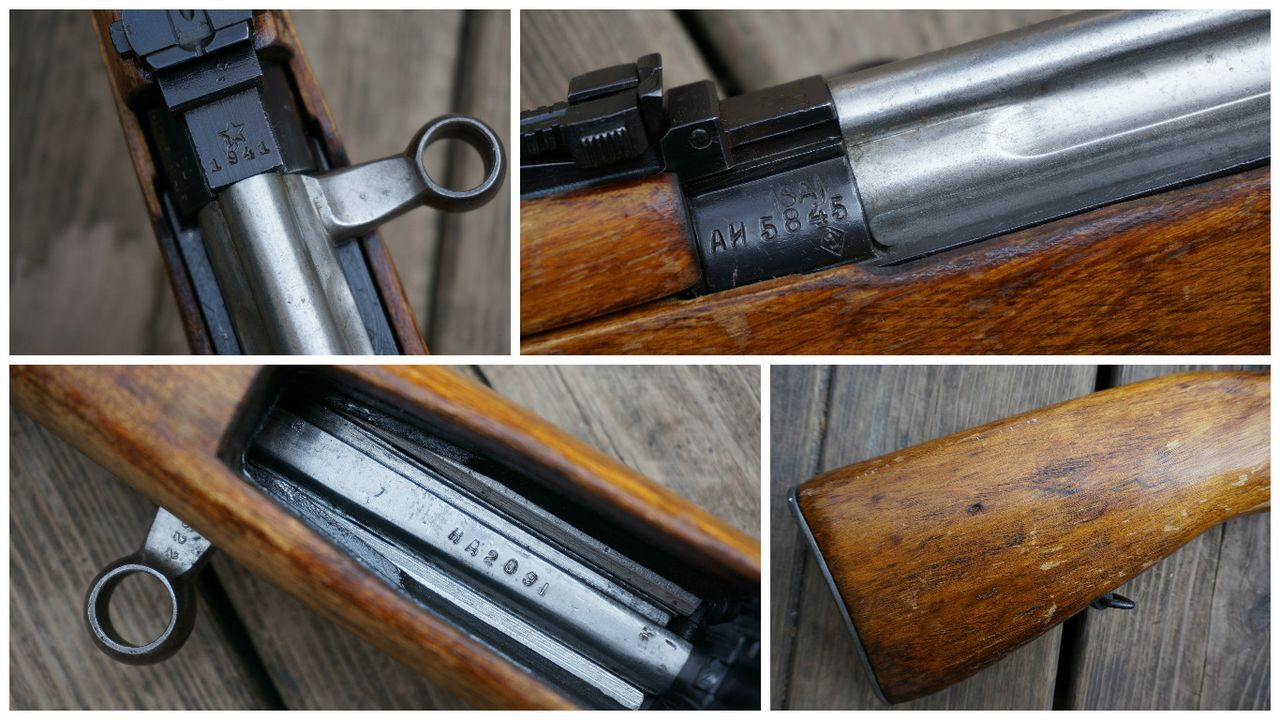 "finnish captured svt-40  note sa property marking, heavily sanded and  refinished stock with no remains of cartouche, bolt and carrier ""in white"","