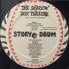 THE SHADOW BOX ORCHESTRA:STORY DRUMS(LABEL SIDE-B)