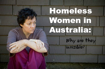 invisible homeless women in Australia