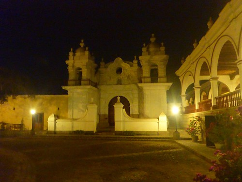 Hacienda courtyard and church