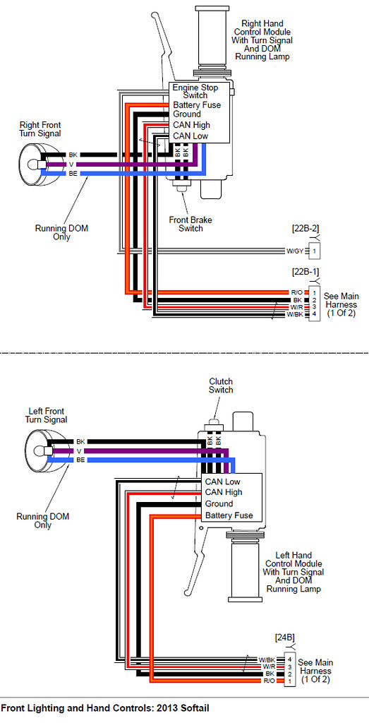 turn signal wiring diagram harley