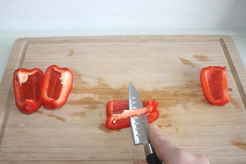 21 - Paprika entkernen / Decore bell pepper