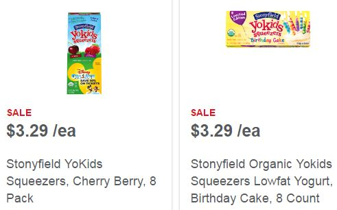 High Value Stonyfield Yogurt Coupons