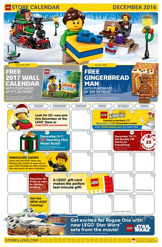 LEGO December 2016 Store Calendar Promotions & Events - The Brick ...