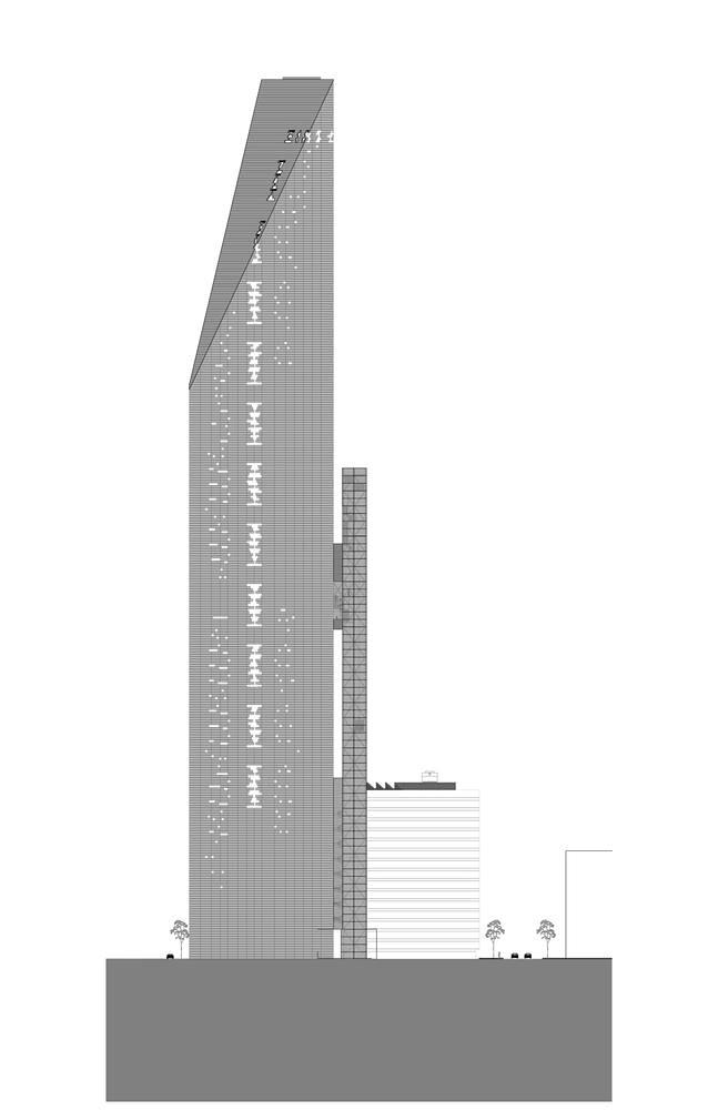 Конструкция башни Torre Reforma от LBR + A