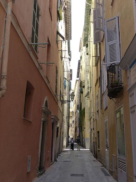 étroite ruelle de Nice