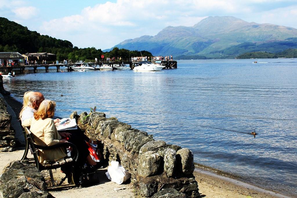 Ben Lomond and Loch Lomond form Luss, Scotland