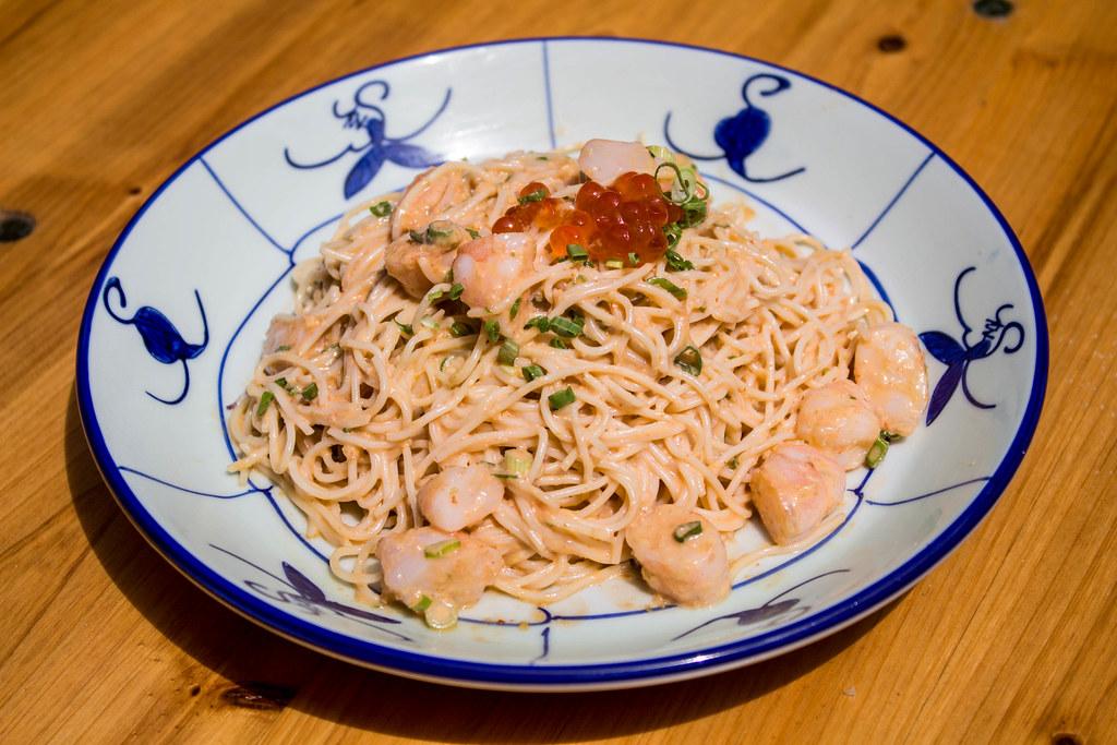 Noshery: Spicy Cod Roe Pasta