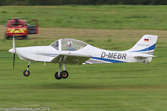 D-MEBR - Aerostyle Breezer, rolling for departure on Runway 26L at Barton