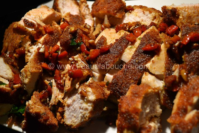 Poulet Pané au Tandoori Condiment Poivrons Grillés © Ana Luthi Tous droits réservés 013