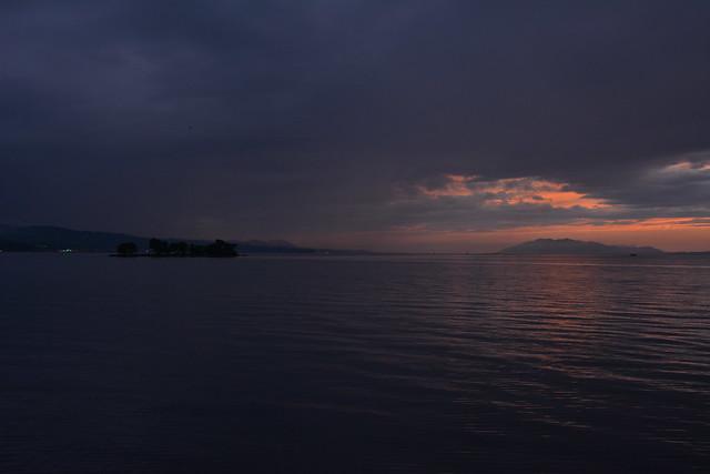 宍道湖の夕暮