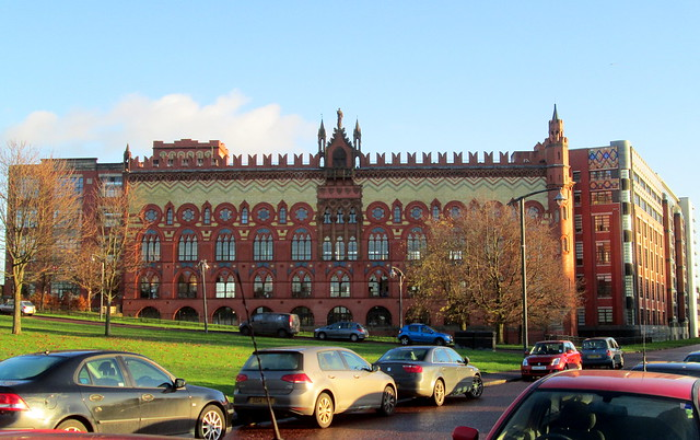 Templeton Carpet Factory, Glasgow, from West