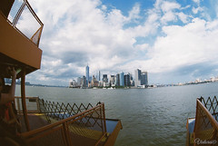 Manhattan from Staten Island Ferry. New York. USA