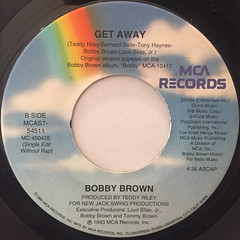 BOBBY BROWN:GET AWAY(LABEL SIDE-B)
