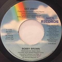 BOBBY BROWN:GET AWAY(LABEL SIDE-B)