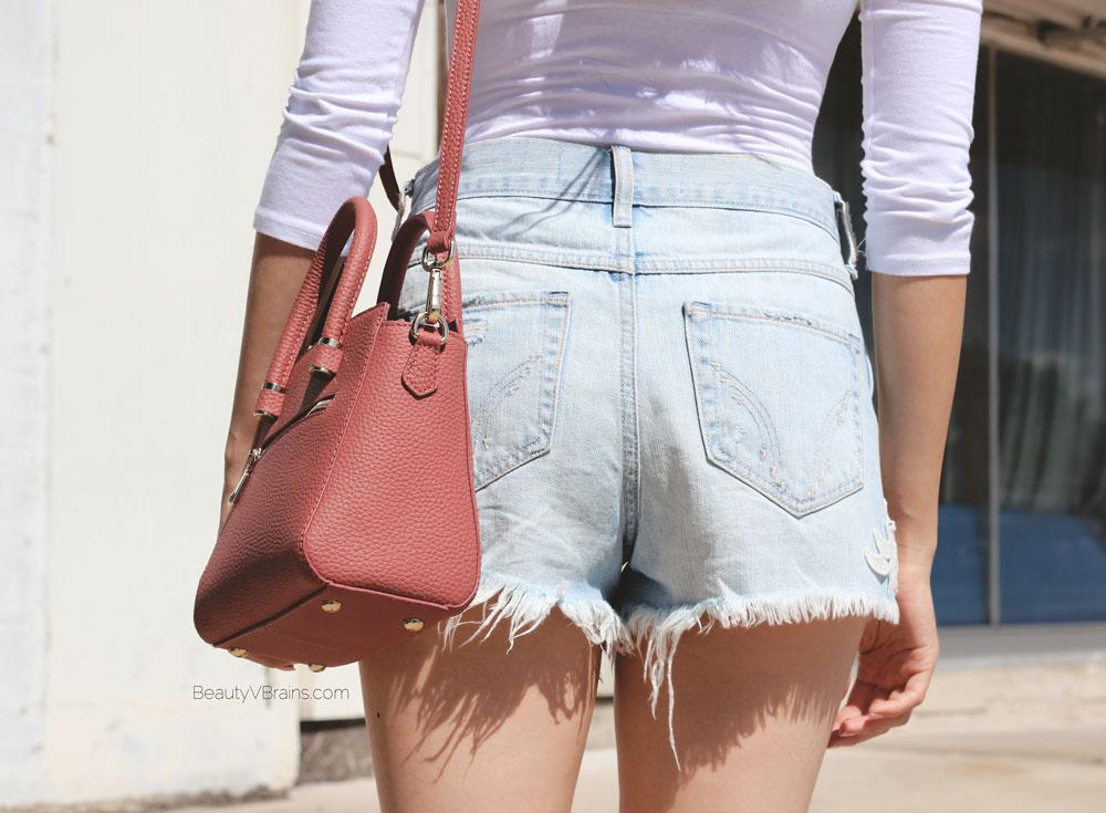 Hollister high waist frayed festival shorts