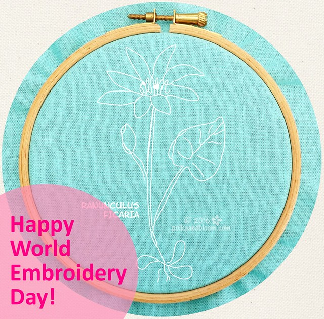 Free pattern! Happy world embroidery day!