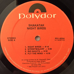 SHAKATAK:NIGHT BIRDS(LABEL SIDE-A)