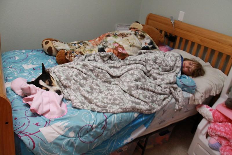 Toby and Ashlyn sleeping