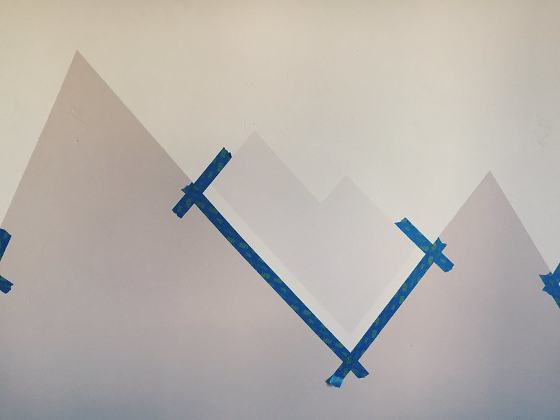 paint your own nursery mountain mural