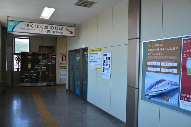 六日町駅:ほくほく線ホーム