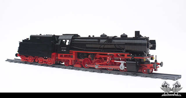 Locomotives LEGO German Baureihe 41-241 Polarstern, in Lego 1:38