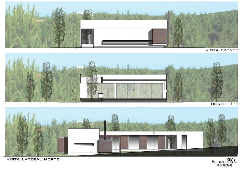 План одноэтажного дома L House от Estudio PKa