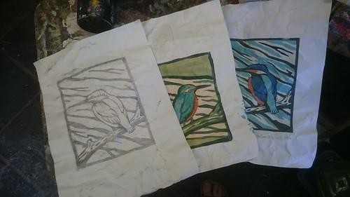 5 Colour Linocut