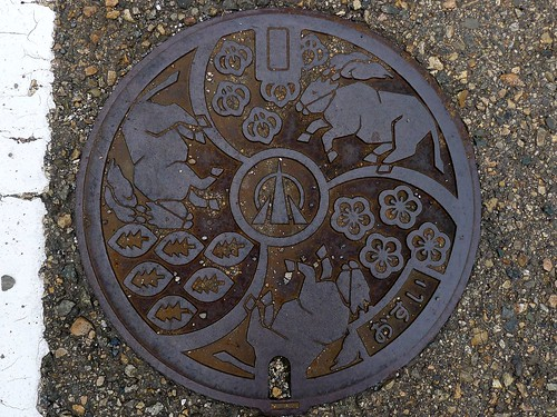 Oyabe Toyama, manhole cover 2 (富山県小矢部市のマンホール2)