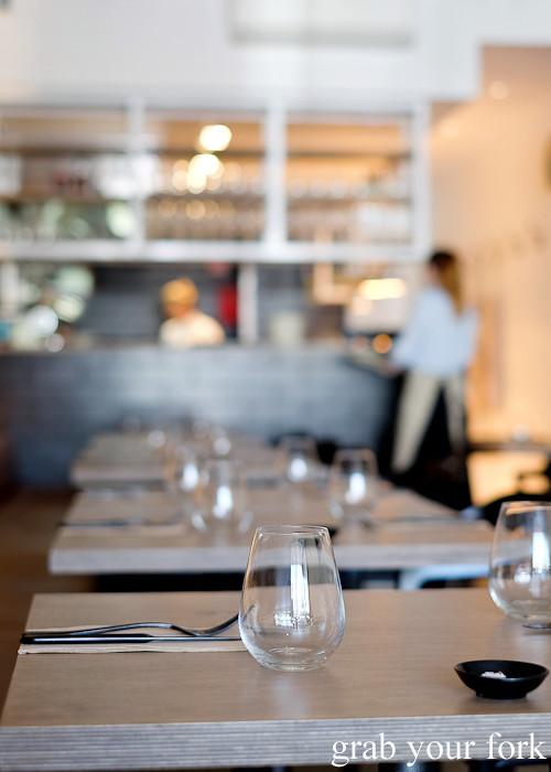 Dining room at Saint Peter in Paddington Sydney