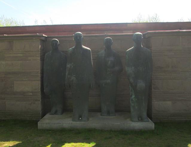 Langemark War Cemetery, Mourning Soldiers