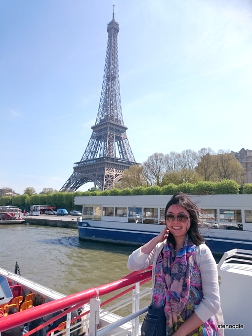 on board the Bateaux Mouches