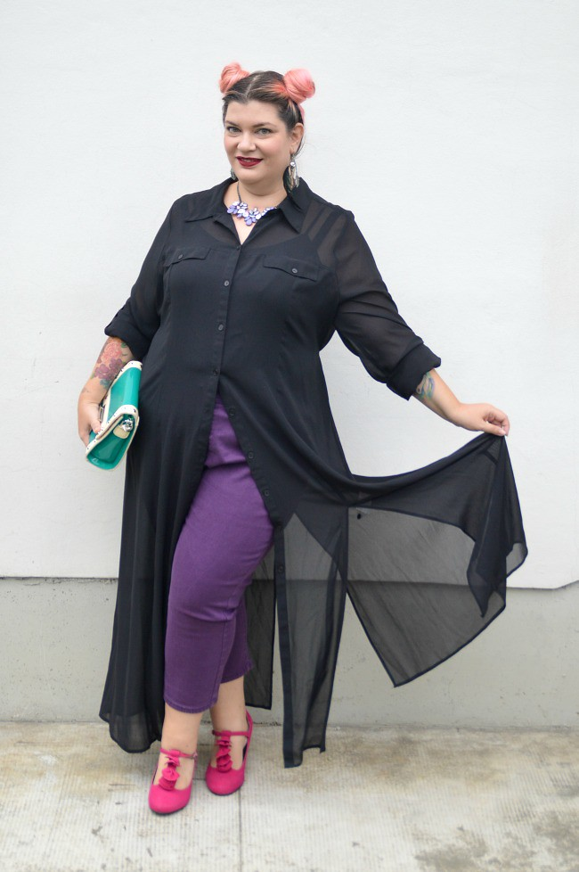 Disneybound plus size outfit maleficent The sleeping beauty (1)