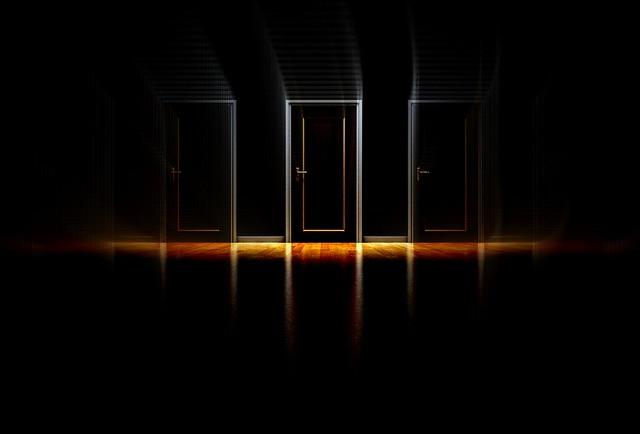 doors in reflection