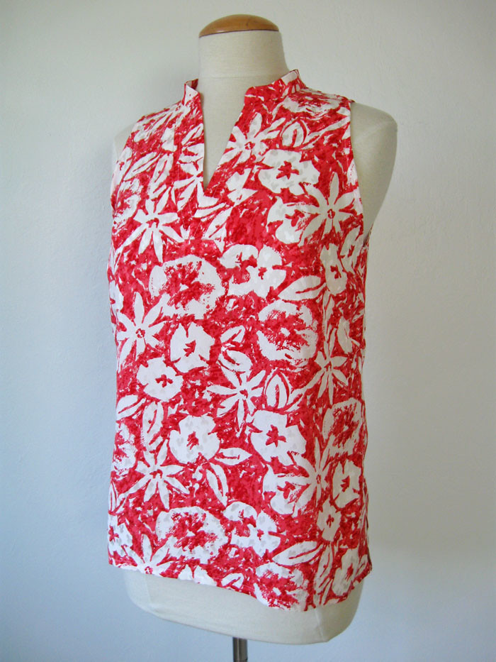 silk top coral front
